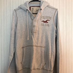 Men's Hollister Hoodie 1/4 Button Size M